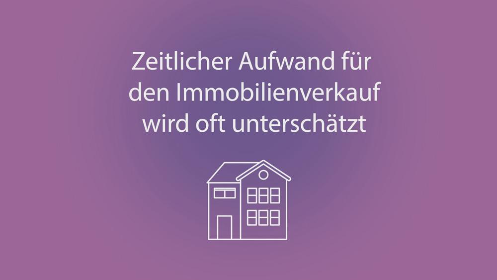 Zeitaufwand Immobilienverkauf