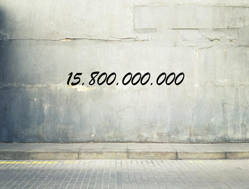 Zahl des Monats:15.800.000.000