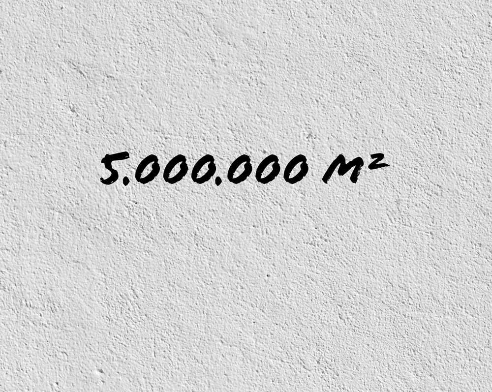 Zahl des Monats:5 Millionen Quadratmeter